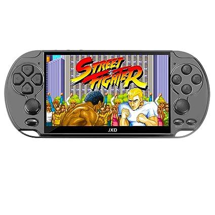 JXD New 5 1 inch 16GB 128Bit Retro Handheld Video Game Console Built-in  3000 Games for Arcade NEOGEO/CPS/FC/NES/SFC/SNES/GB/GBC/GBA/SMC/SMD/SEGA