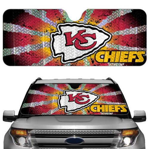 NFL Kansas City Chiefs Auto Sun Shade (Team Car Sunshade)