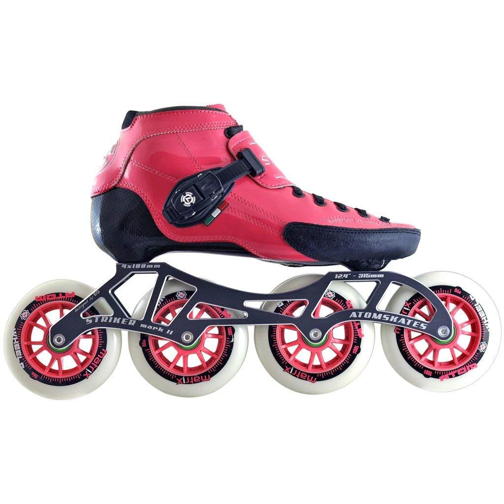 Atom Luigino Strut Inline Skate Package (Size 13J, Pink)