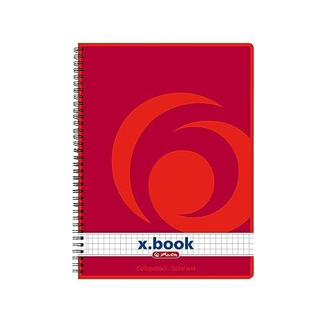 herlitz Collegeblock x.book DINA5 80 Blatt liniert Rand links gelocht Notizblock