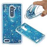 ZTE ZMAX Pro Case, ZTE Carry Z981 Case, NOKEA Soft TPU Flowing Liquid Floating Luxury Bling Glitter Sparkle Case Cover Fashion Design for ZTE ZMAX Pro / Carry Z981 (Blue)
