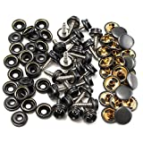 Vivona Hardware & Accessories 25pcs 15mm Metal Canvas Buckle Quick Snap Fastener Buttons Kits
