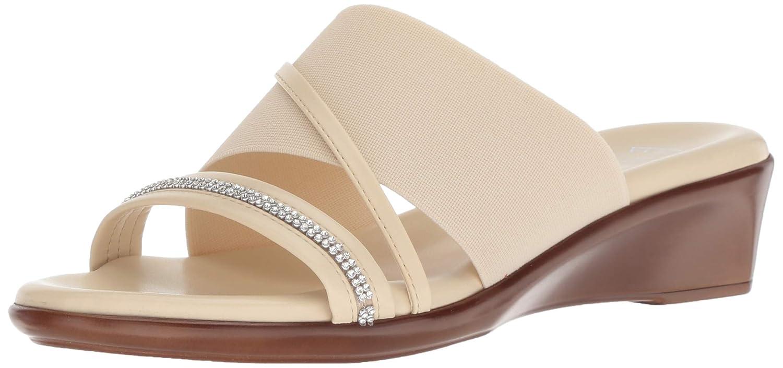 Beige Italian shoesmakers Womens Sassy Slide Sandal