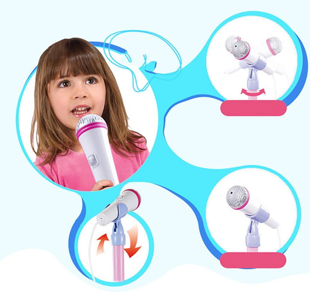 Kid Microphone Toys, Kids Children's Karaoke Machines with Stand, Kid Gifts for 3 4 5 6 Year Old Girls,A by GHDE& (Image #6)