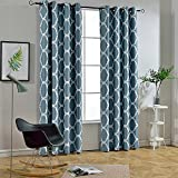 Melodieux Moroccan Fashion Room Darkening Blackout Grommet Top Curtains, 52 by 96 Inch, Teal (1 Panel) Review