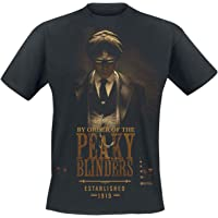 Peaky Blinders - Gangs Of Birmingham EST 1919 Hombre Camiseta Negro, Regular