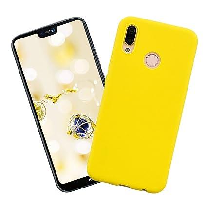 Funda Huawei p20 Lite,Carcasa Silicona del Caramelo Protector TPU Ultra-Delgado Anti-Arañazos Caso,Color Sólido Suave TPU Silicona Flexible Gel Funda, ...