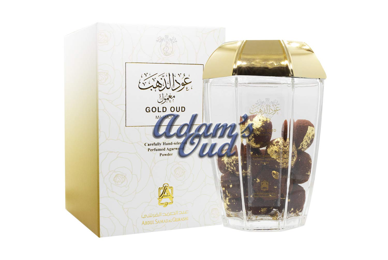 Abdul Samad al Qurashi Maamoul Gold Oud 50g Gold-Plated Incense Perfumed Bukhoor Mamool Bakhoor