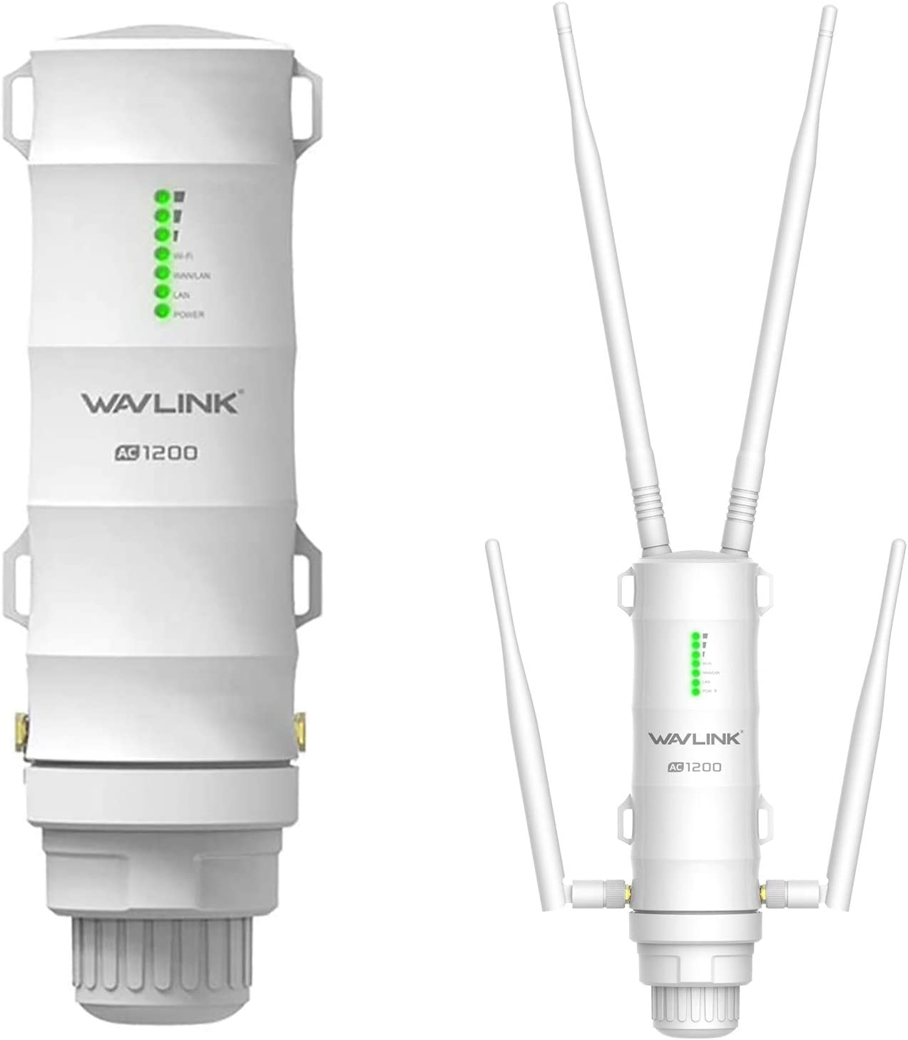 Dual Band 2.4+5G 1200Mbps 802.11AC Outside Weatherproof Wireless PoE AP//Router//WISP//Bridge Internet Booster Amplifier WN572HG3 3-in-1 AC1200 Outdoor WiFi Extender//Access Point//Repeater in 4 Antennas
