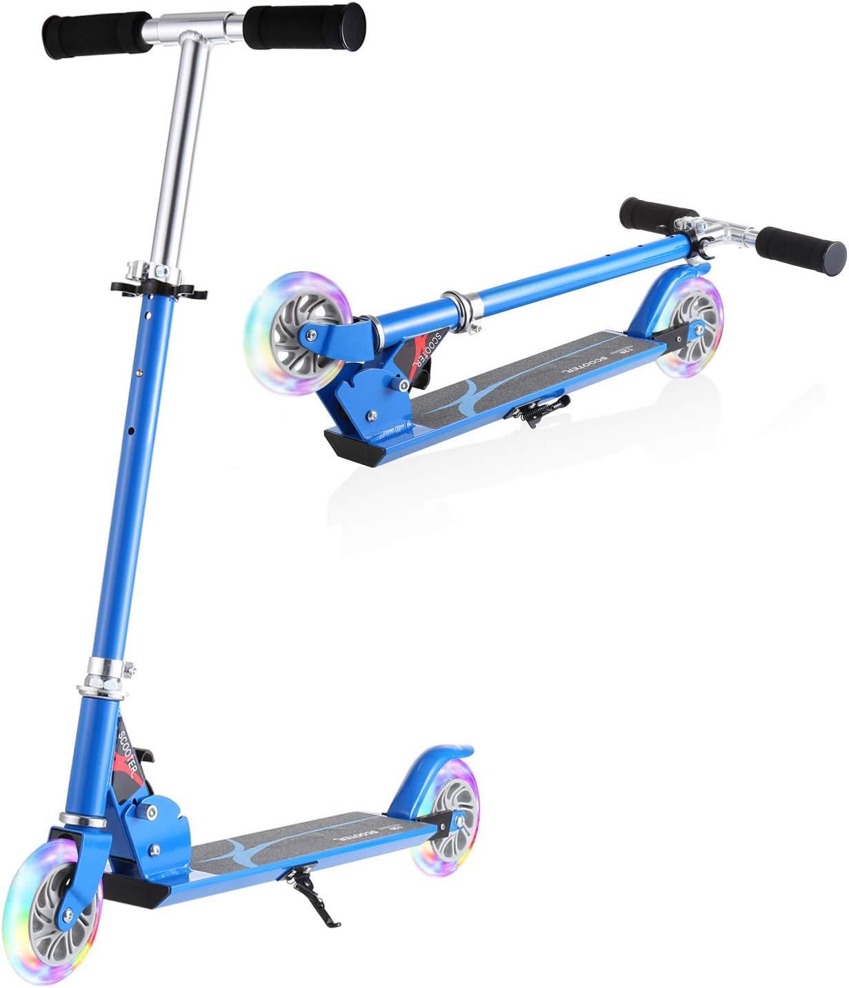 Carga M/áxima de 50 kg WeSkate Patinete Plegable 2 Ruedas para Ni/ños de 4 a 10 A/ños Scooter Ajustable en 3 Niveles para Ni/ñas y Ni/ños Rosa, Azul