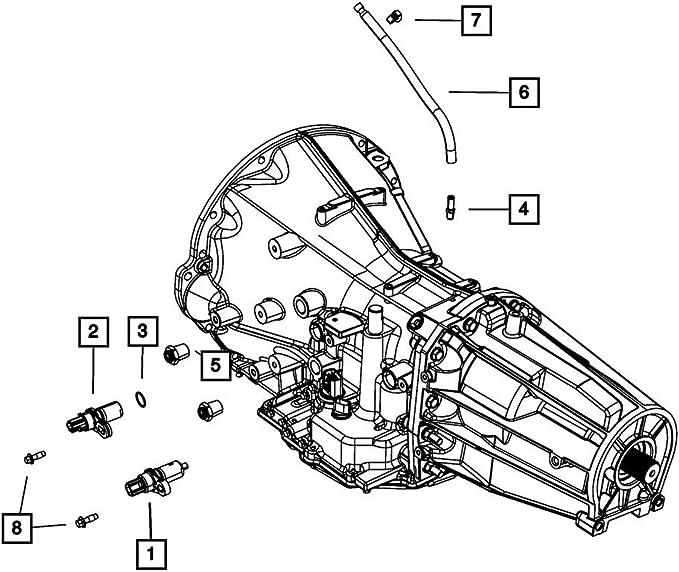 Mopar 04683032 OEM ABS Speed Sensor 1991-1995 Dodge Chrysler Plymouth RH