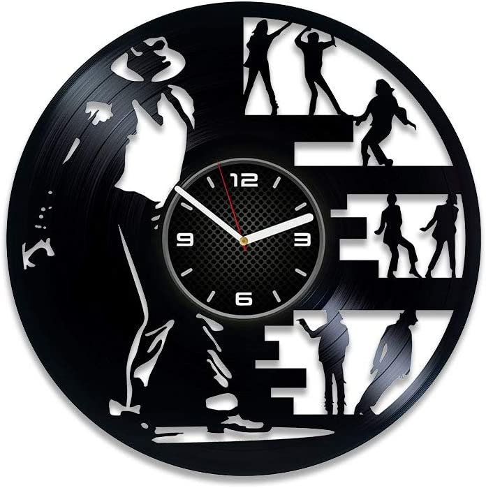 Kovides Michael Jackson Vinyl Record Wall Clock Pop King Michael Jackson Clock Michael Jackson Vinyl Clock Gift for Man 12 inch Clock Michael Jackson Gift Michael Jackson Wall Clock Large