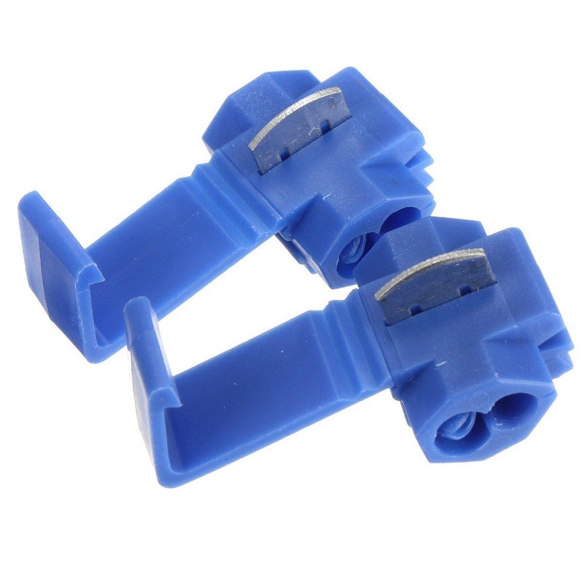 biue Solderless Wire Quick Splice Connector - 14-18Gauge - 100 Pack