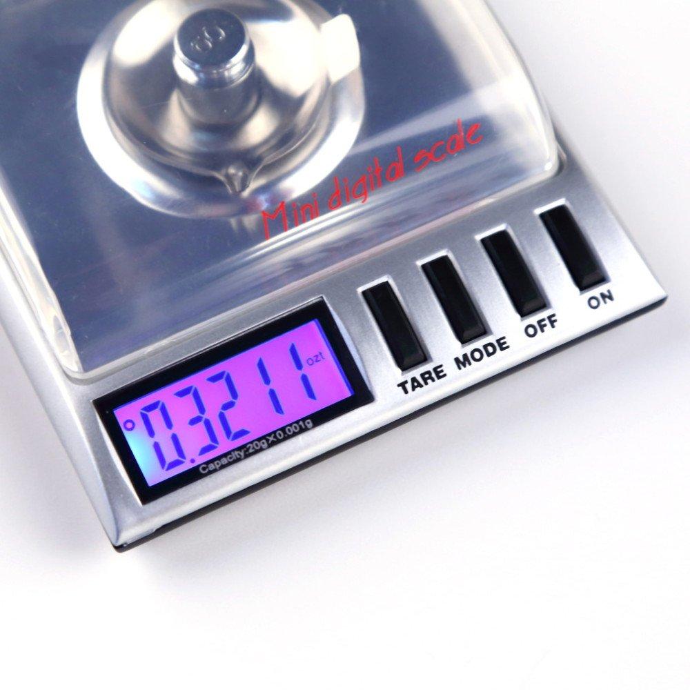 Amazon.com: 20g x 0.001g high precision AMW Gemini bilancia balanza Digital Milligram/ Gram pocket jewelry Scale electronic scales: Kitchen & Dining