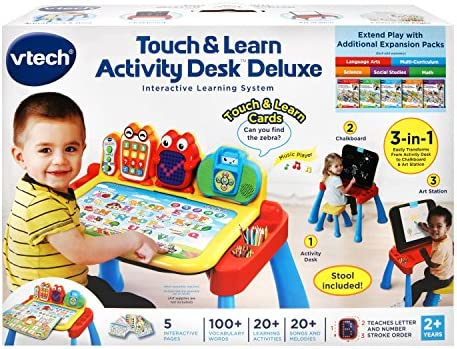 toys, games, kids' electronics,  electronic learning toys 11 discount VTech Touch and Learn Activity Desk Deluxe deals