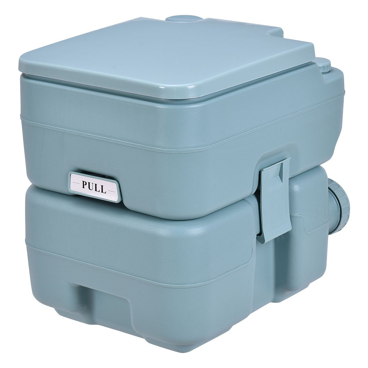 20L Easy Carry & Clean Portable Travel Flush Toilet Greenish Gray Potty by FDInspiration (Image #7)