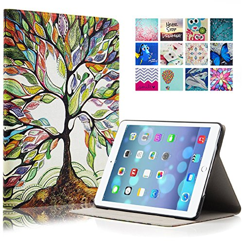 iPad Air Case, iPad 5 Case, Dteck(TM) Cartoon Cute Design Cards Slots Flip Stand Case with [Auto Wake/Sleep Function] PU Leather Protective Cover for Apple iPad 5/iPad Air (1 Big Tree) (Ipad Air Cover Case compare prices)
