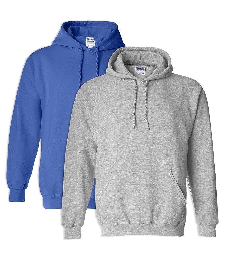 Gildan G18500 Heavy Blend Adult Hooded Sweatshirt 4XL 1 Royal 1 Sport Grey
