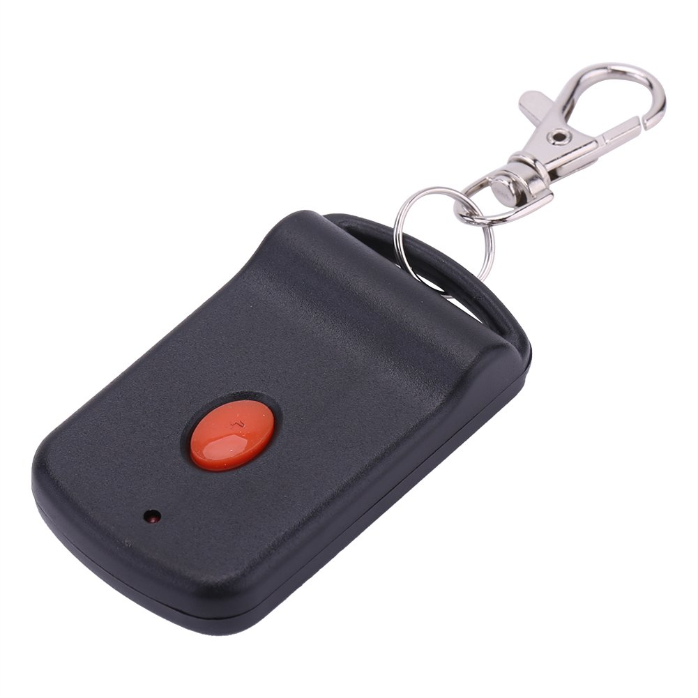 Garage Door Opener Remote with Mini Key Chain, Portable 1 Button Wireless Remote Control Transmitter Gate Opener Black with Red Buttons Garosa 4330605096
