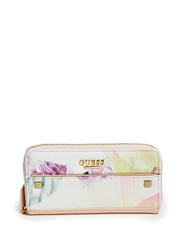 f39ced251f Amazon.com  GUESS Women s Harper Zip Around Wallet Clutch Bag - Floral  Combo  Shoes