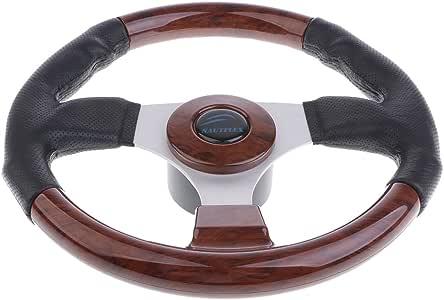"Premium 12.4/"" 3 Spoke 3//4/"" Boat Steering Wheel for Marine Yacht Speedboat"