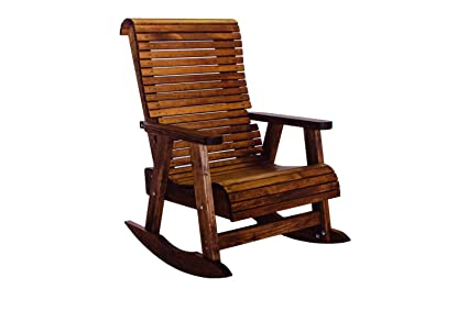 premium selection 13698 5a7ec Amazon.com : Outdoor Patio Highback Rocking Chair - Real ...