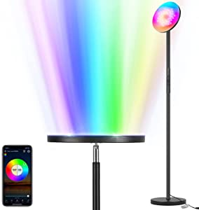 Viugreum Floor Lamp Smart RGB Sky Super Bright Modern Lighting WiFi App 2000lm Dimmable Suitable for Bedroom and Living Room DIY Color Compatible with Alexa & Google Home