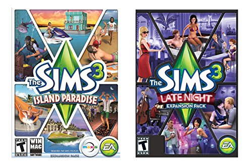 Sims 3 Bundle: Island Paradise and Late Night [Online Game Code] (Sims Night Late 3)
