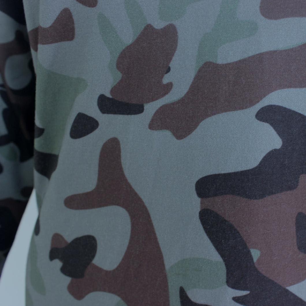 Hemlock Sport Camouflage Shirt Women Girls Long Sleeve V Neck Tee Blouse Tops L, Camouflage