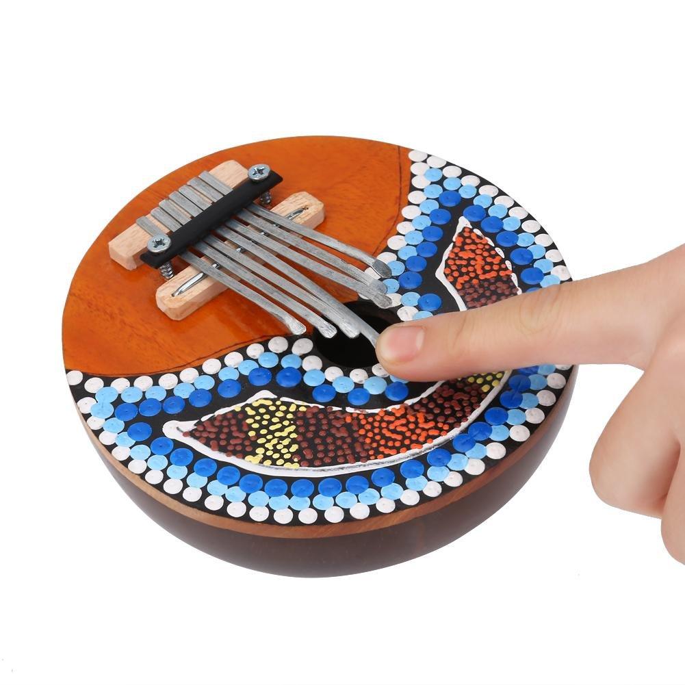 VGEBY 7 Key Kalimba Thumb Piano, Tuneable Coconut Shell Finger Thumb Piano by VGEBY (Image #5)