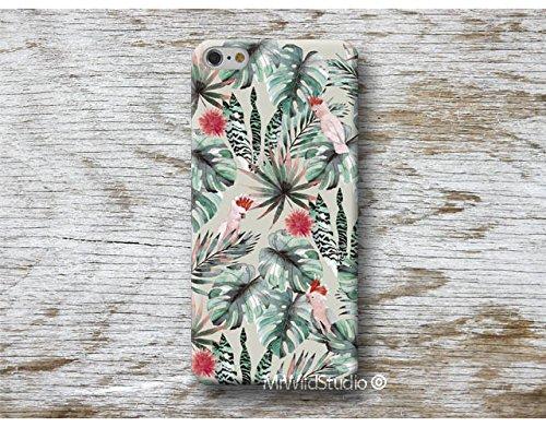 cacatoès monstera tropical Coque Étui Phone Case pour iPhone X XR XS MAX 4 4s 5 5se se 5C 5S 6 6s 7 Plus iPhone 8 Plus iPod 5 6