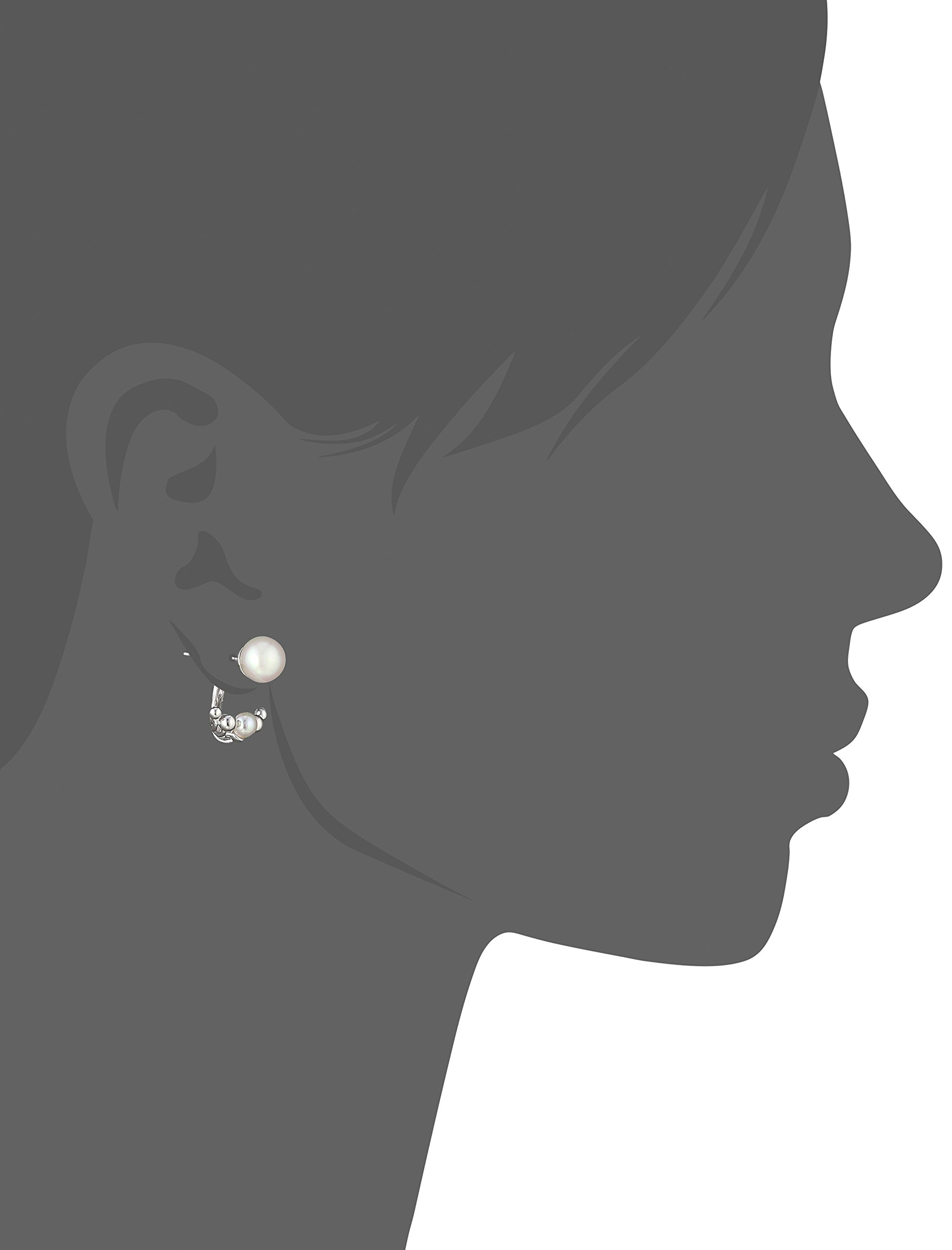 Majorica 5/8mm White Round Pearl On A Sterling Silver Earring Jacket by Majorica (Image #2)