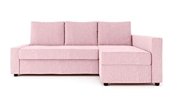 Sung Fit Friheten Slipcover for The IKEA Friheten with Chaise Corner Cover, Sofa Bed Cover, Sectional Slipcover Replacement (Pink)