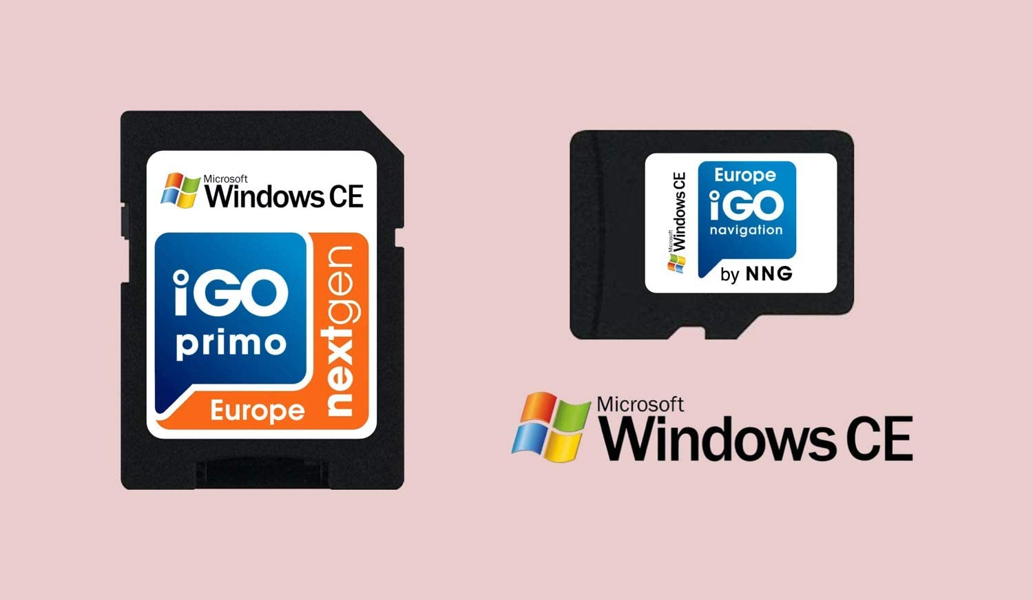 MicroSD Card with Licensed Windows CE GPS Navigation Software iGO Primo NextGen 3D Maps 2019 EUR/RUS/TUR for PKW/Truck/Camper/ 30 Days Free Maps Update