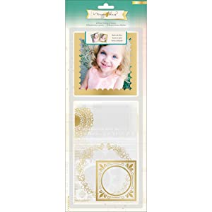 Crate Paper Maggie Holmes Open Book Photo Overlays and Pockets for Scrapbooking