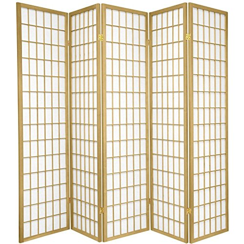 Oriental Furniture 6 ft. Tall Window Pane - Special Edition - Gold - 5 Panels ()