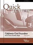 Quick Review of California Civil Procedure (Quick Review Series)