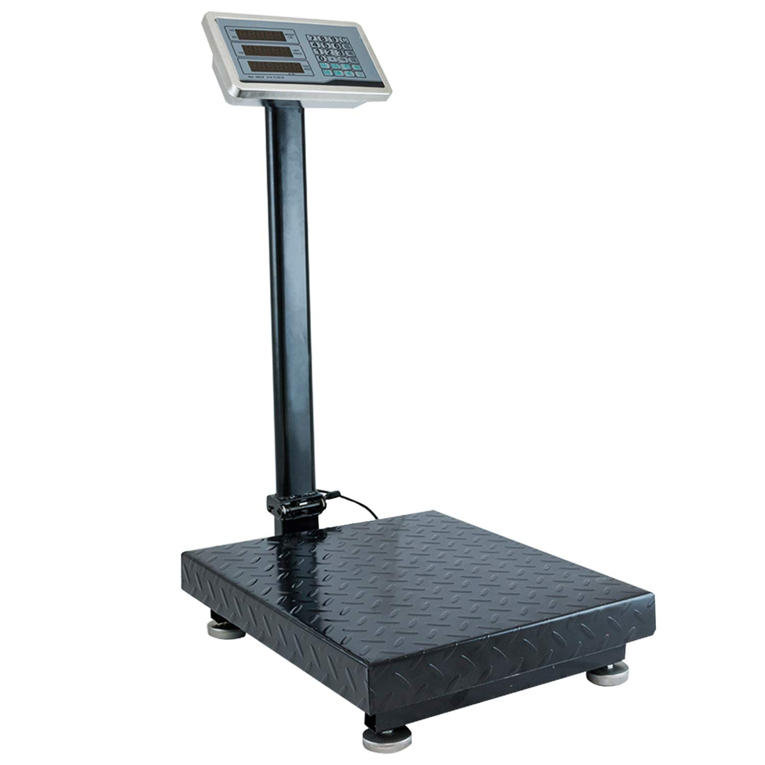"Houseables Industrial Platform Scale 600 LB x .05, 19.5"" x 15.75"", Digital, Bench, Large for Luggage, Shipping, Package Computing, Postal"