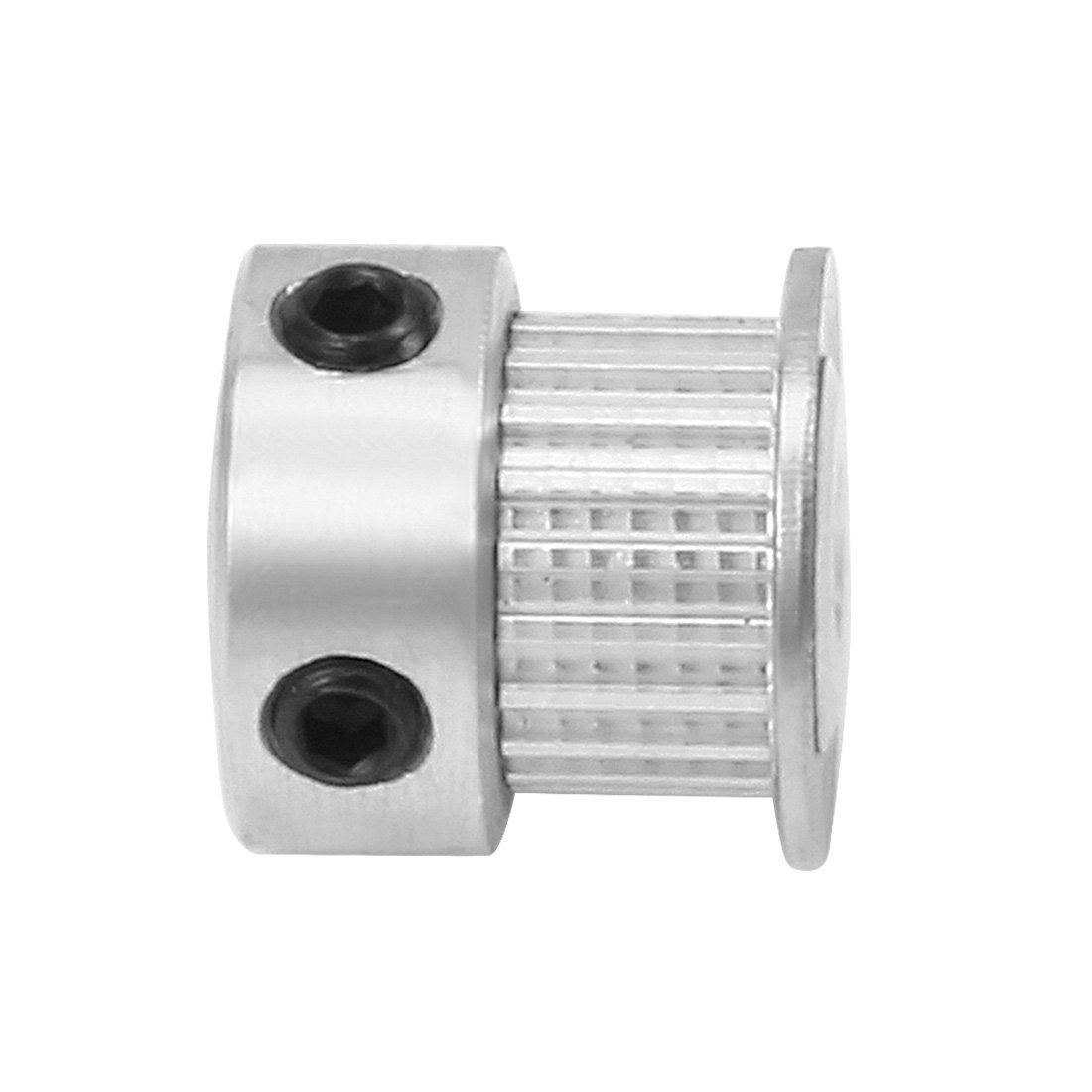 uxcell Aluminum MXL 20 Teeth 7mm Bore Timing Belt Idler Pulley Flange Synchronous Wheel for 6mm Belt 3D Printer CNC