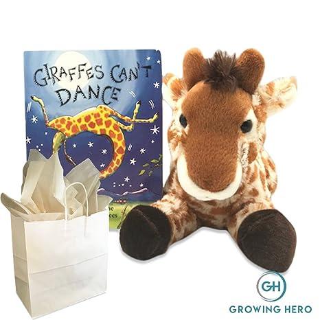 601d053b14a5c Growing Hero Stuffed Giraffe   Giraffes Can t Dance Board Book Gift Set