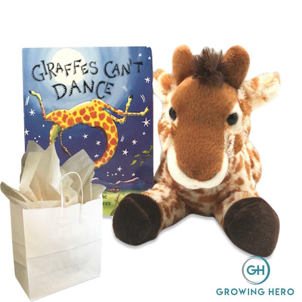 Growing Hero Stuffed Giraffe & Giraffes Can't Dance Board Book Gift Set | Plush Giraffe & Classic Board Book for Children | Best Good Night Stories for Babies, Toddlers & Kids