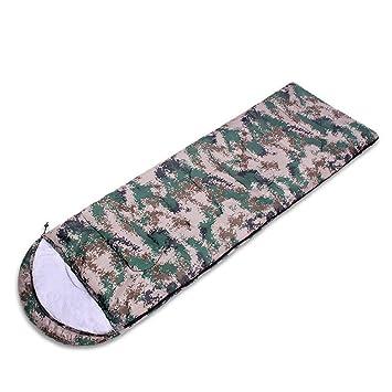 RFVBNM Suministros al aire libre que espesan el saco de dormir de camuflaje digital del sobre de camping tipo saco de dormir de la primavera: Amazon.es: ...