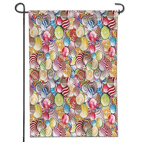 Philiphome Inspirational Garden Flag Spiral Sugar Candy Swee