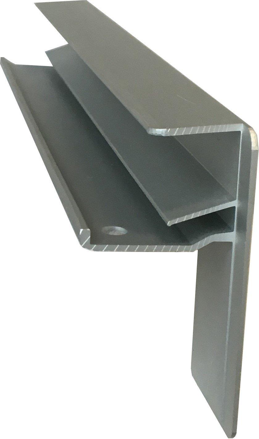 Fensterbank Putz Seitenteile 195 mm in Silber