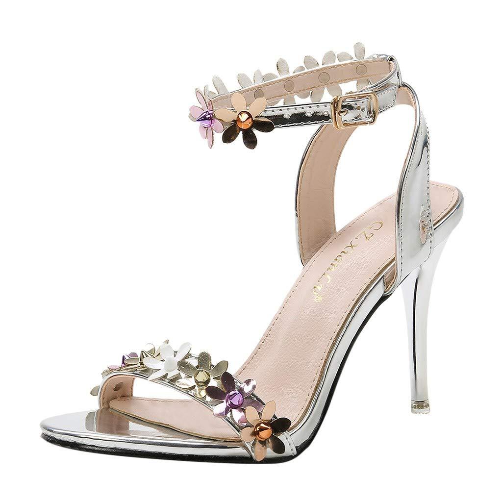 Frunalte Women Walking Casual Comfortable Slip-On Weaving Breathable Pumps Fashion Sneakers Casual Flexible Socks Shoes Silver by Frunalte Women Shoes