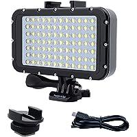 Suptig Onderwaterverlichting, duiklicht, 84 leds, hoog vermogen, dimbaar, waterdicht, LED-videolicht, waterdicht, 50 m…