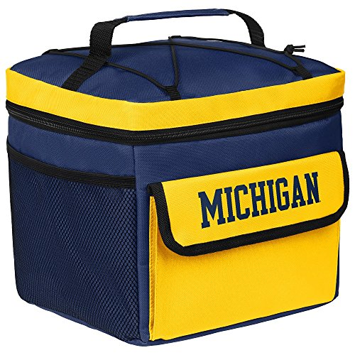FOCO NCAA Michigan Wolverines All Star Bungie Cooler Sports Fan Home Decor, Blue, One ()