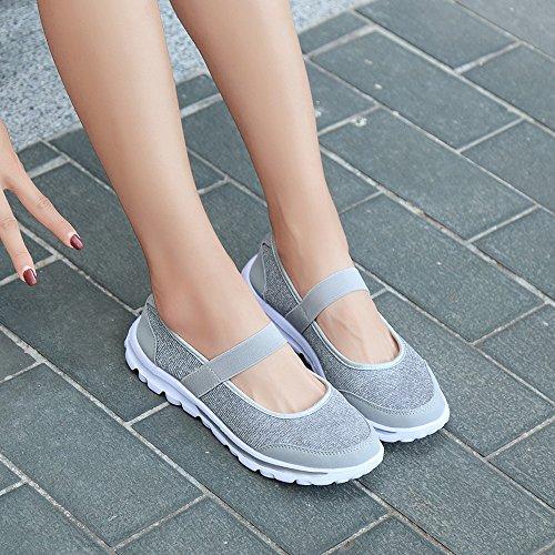 Zapatillas Zapatos para Correr Deporte para Transpirables Running Sneakers Gimnasio Gris Mujer Casual Deportivas IqIrT
