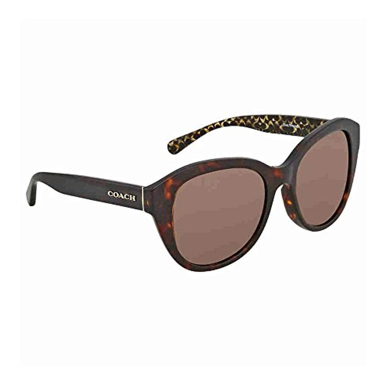 1c78b9df8716 Coach Women's HC8231F Sunglasses Black/Dark Grey Solid 54mm at Amazon  Women's Clothing store: