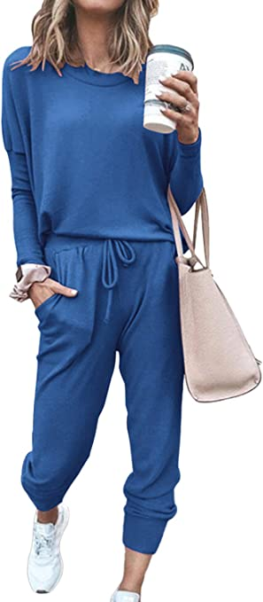 Long Sleeve Tops and Pants Set Sweatsuits